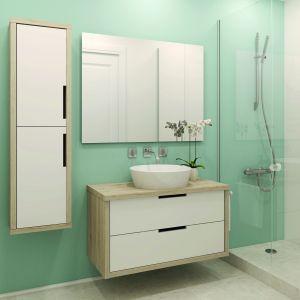 Metamorfoza łazienki z farbą Beckers w kolorze Simple. Fot. Beckers