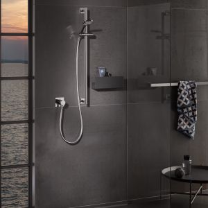 Półki prysznicowe marki Keuco. Fot. Keuco