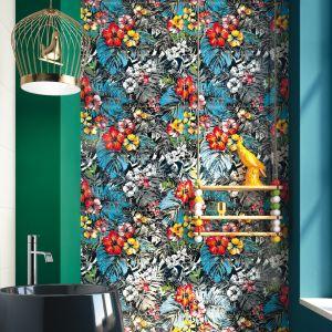 Płytki z kolorowym dekorem z kolekcji Mas-Up marki Imola Ceramica. Fot. Imola Ceramica