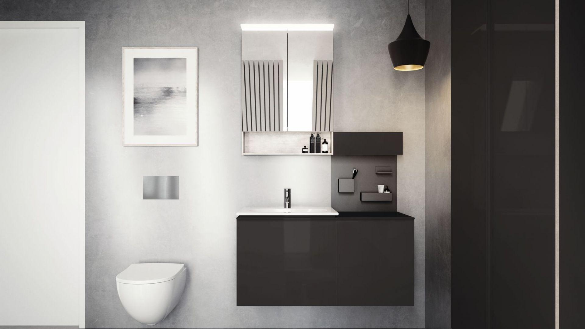 Kolekcja Geberit Acanto została zaprojektowana z myślą o komforcie podczas korzystania z łazienki. Fot. Geberit