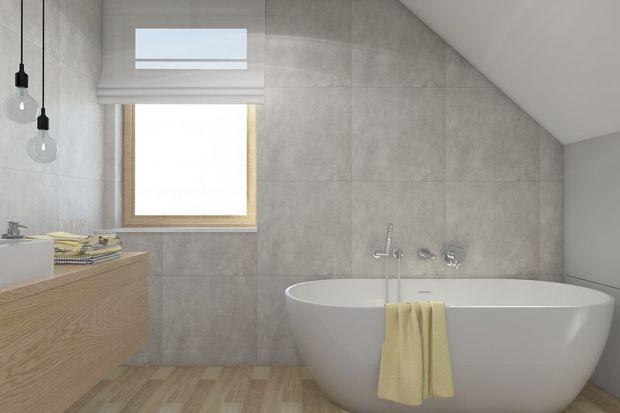 Nawet w niewielkim domku można urządzić dwie łazienki, które będą spełniać różne role - przestrzeni dla gości i salonu kąpielowego służącego relaksowi. Zobaczcie jak wyglądają w tym projekcie.
