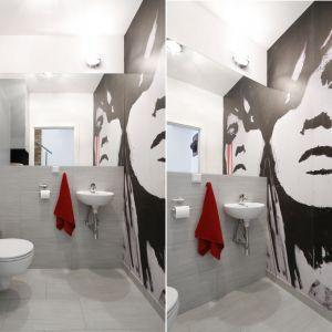 Pomysł na ścianę w łazience. Proj. Monika Olejnik. Fot. Bartosz Jarosz
