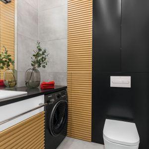 Mała łazienka dla mężczyzny. Proj. arch. Joanna Rej. Fot. Pion Poziom