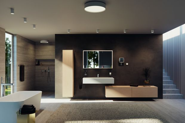 Właściwe światło odgrywa znaczącą rolę w zapewnieniu dobrego samopoczucia.Oświetlenie łazienki powinno być dokładnie przemyślane i zaplanowane tak, aby akcentowało również wysoką jakość wyposażenia.