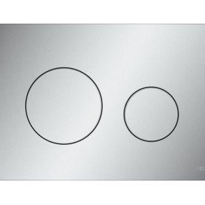 Przycisk spłukujący TECEloop w wykończeniu chrom matowy. Fot. TECE