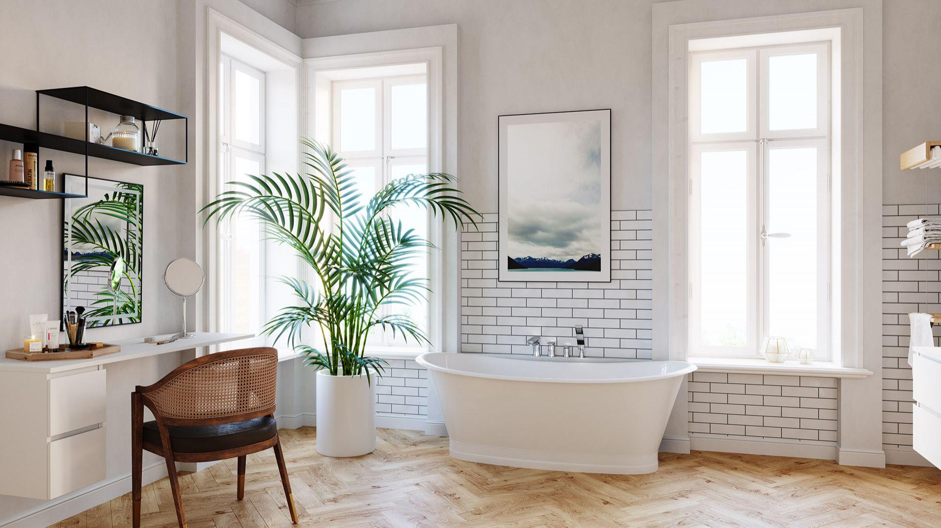 Pomysł na aranżację salonu kąpielowego w starej kamienicy. Na zdjęciu armatura z serii Algeo Square marki Ferro. Fot. Ferro