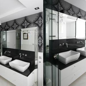 Pomysł na lustro w łazience. Proj. Magdalena Smyk. Fot. Bartosz Jarosz