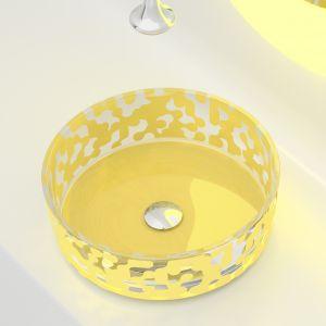 Umywalka z kolekcji Marea w kolorze Yellow. Proj. Karim Rashid. Fot. Glass Design