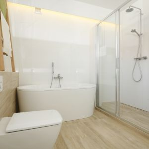 Prysznic bez brodzika. Proj. Joanna Ochota. Fot. Bartosz Jarosz