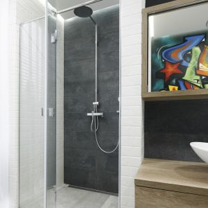 Prysznic bez brodzika. Proj. Dariusz Grabowski. Fot. Bartosz Jarosz