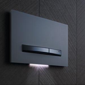 Moduł DuoFresh ma dyskretne podświetlenie  orientacyjne, wskazujące drogę w przypadku korzystania toalety w porze nocnej. Fot. Geberit
