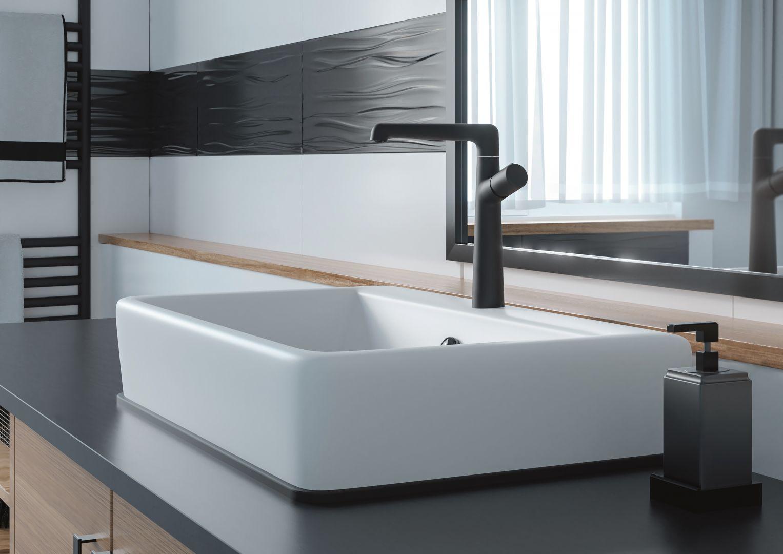 Bateria umywalkowa z serii Pretto. Fot. Laveo