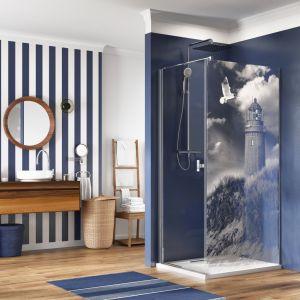 Kabina prysznicowa z dekorem na szkle NES KDJ marki Radaway. Fot. Radaway