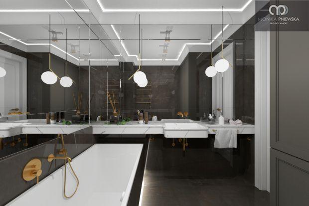Ciemna łazienka zwykła kojarzyć się z dużym ryzykiem aranżacyjnym. Zapytaliśmy arch. Monikę Pniewską na co zwraca uwagę projektując łazienki w ciemnych kolorach.