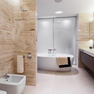 Aranżacja łazienki jak salon kąpielowy. Proj. Anna Fodemska. Fot. Bartosz Jarosz