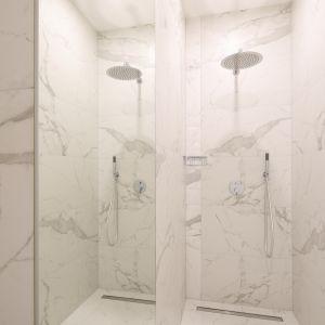 Gotowy projekt białej łazienki. Proj. Katarzyna Mikulska-Sękalska. Fot. Bartosz Jarosz