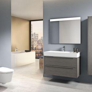 Szafka pod umywalkę z kolekcji mebli łazienkowych Inspira marki Roca. Fot. Roca