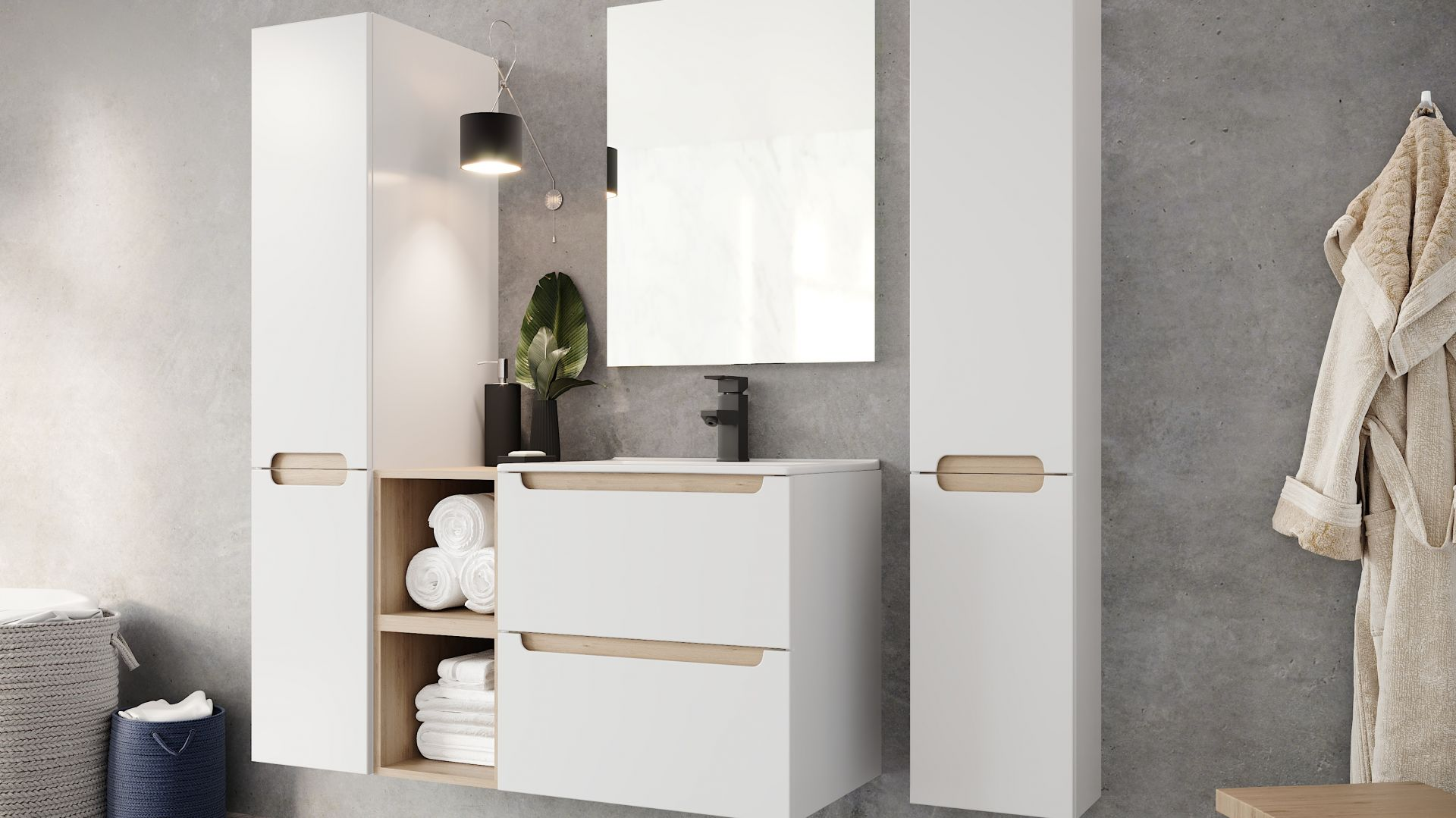 Szafka pod umywalkę z kolekcji mebli Stilla marki Ø NAS. Fot. Deftrans