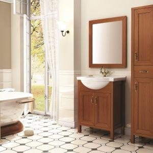 Do łazienki w stylu retro: meble łazienkowe z kolekcji Santos marki Elita. Fot. Elita