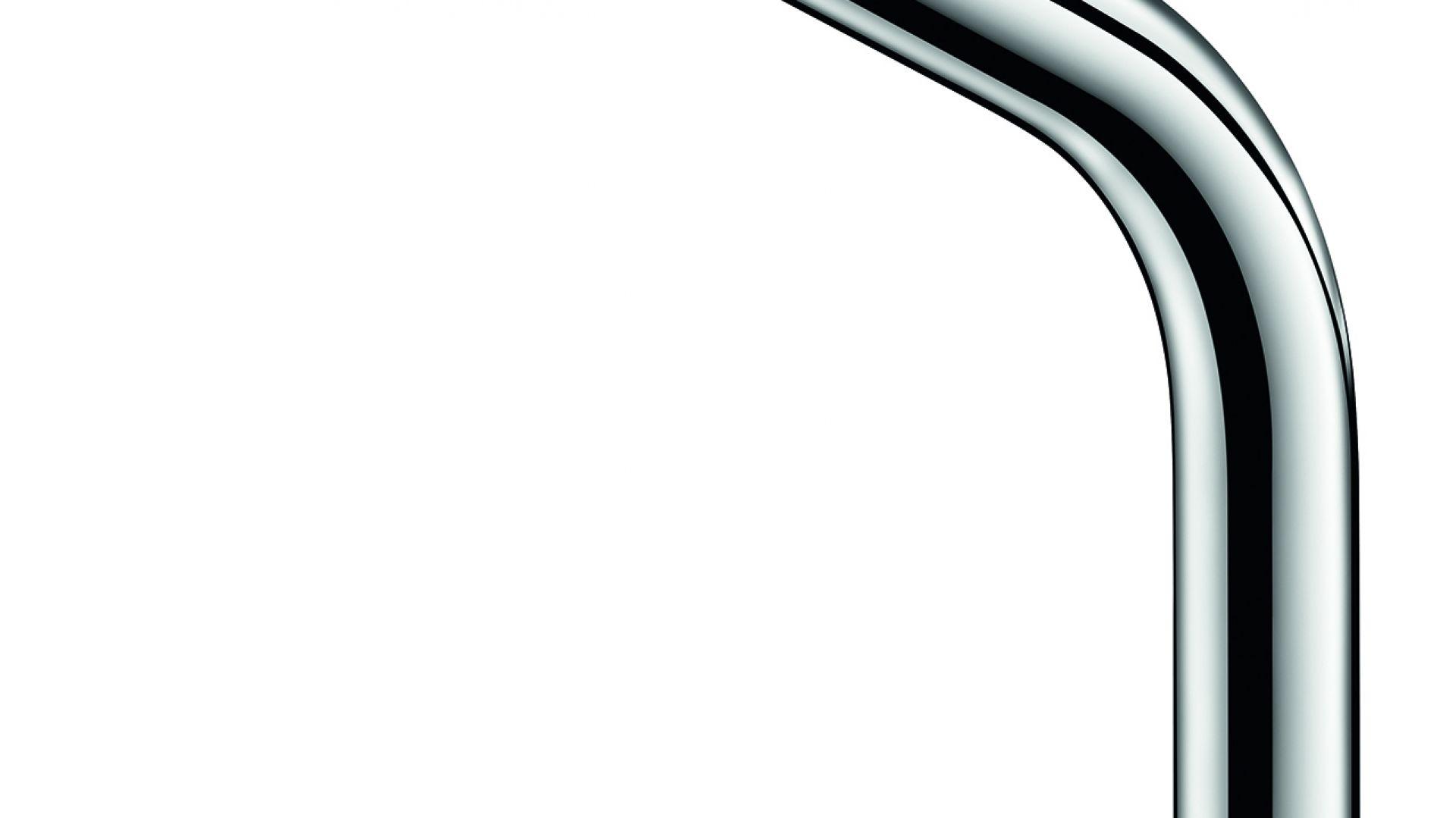 Zawór elektroniczny BINOPTIC, H. 250 mm do umywalki nablatowej. Fot. Delabie