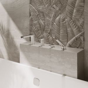 Pomysł na domowe SPA. Na zdjęciu bateria wannowa wielootworowa z serii Adora. Fot. Ferro
