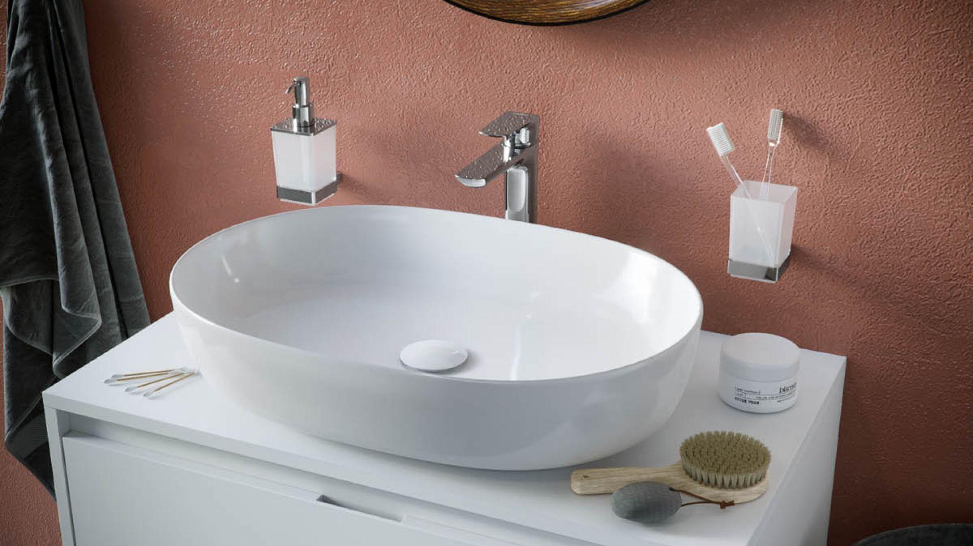 Nablatowa umywalka z cienkim rantem Jima 60. Fot. Excellent