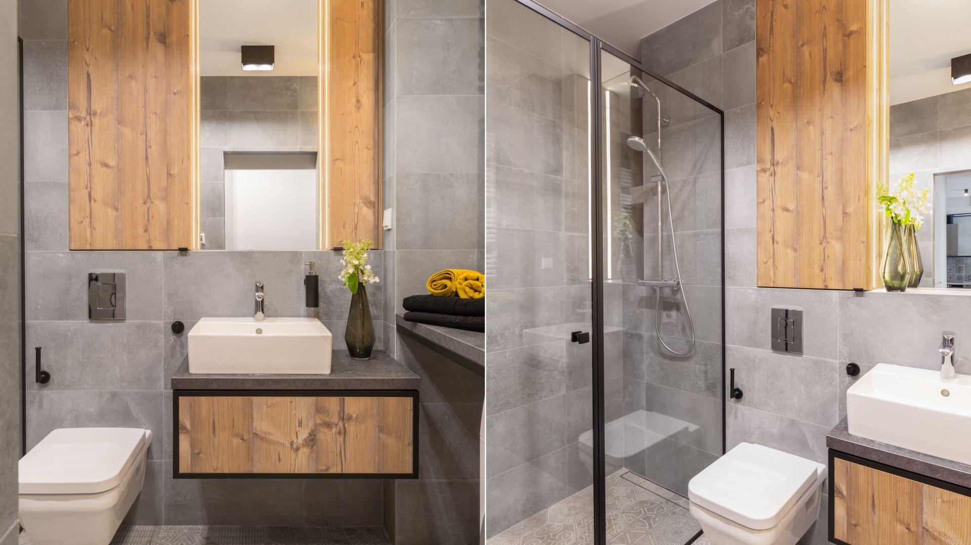 Pomysł na aranżację łazienki w stylu loft. Proj. Decoroom. Fot. Materiały prasowe Decoroom