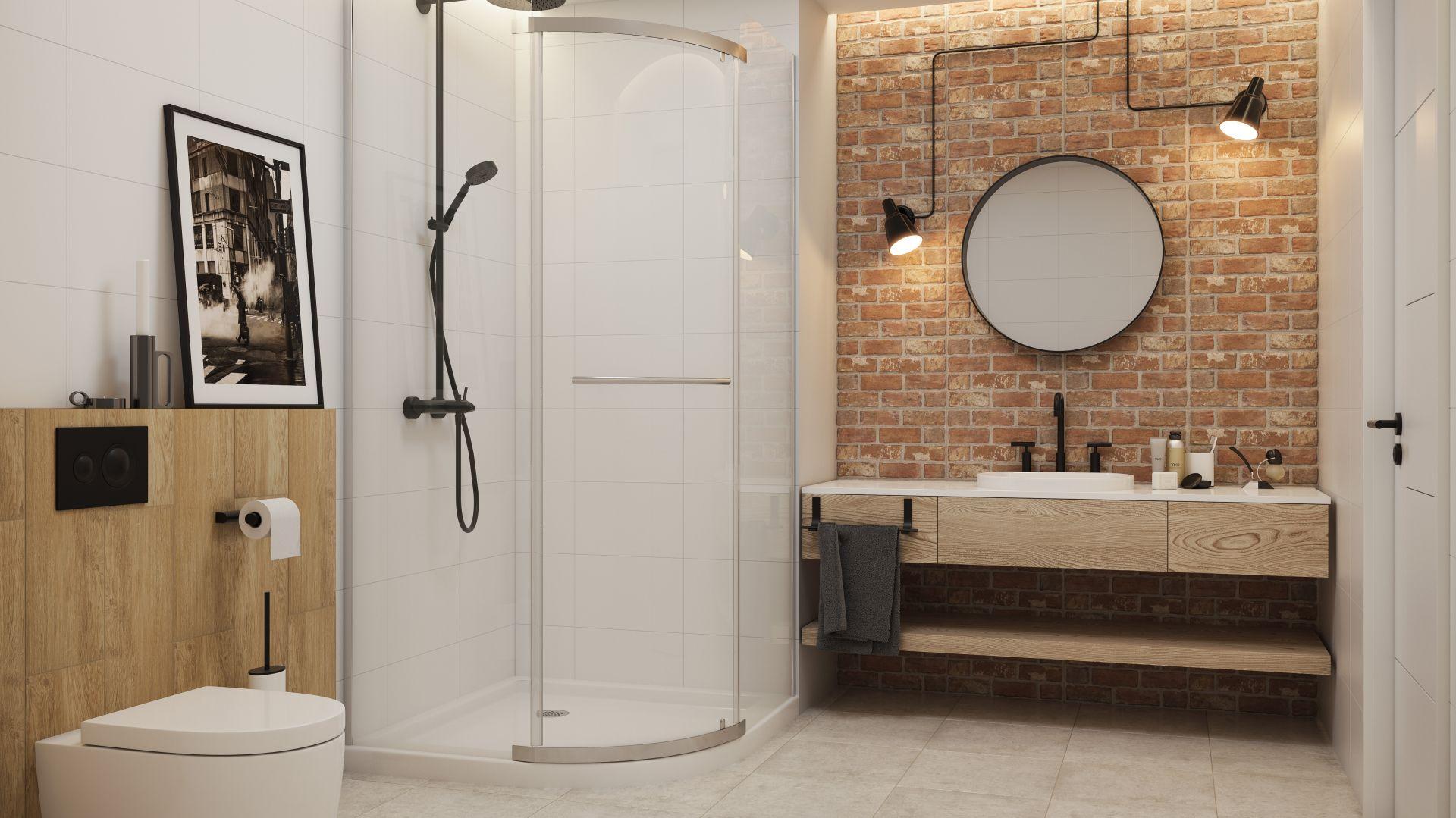 Pomysł na aranżację łazienki w stylu loft. Na zdjęciu płytki z kolekcji Loft marki Paradyż. Fot. Ceramika Paradyż