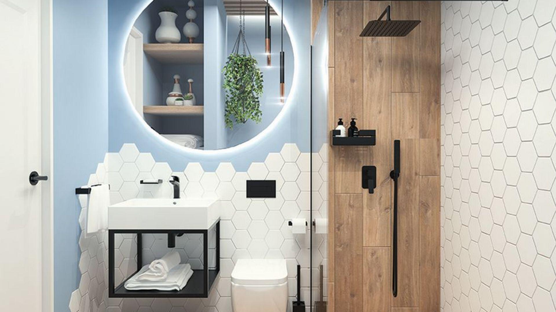 Seria ceramiki sanitarnej Hiacynt w aranżacji łazienki. Fot. Deante