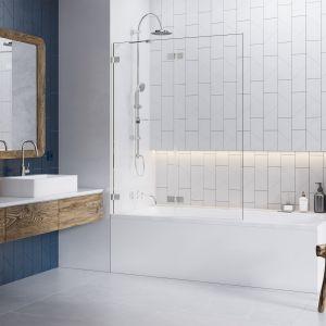 Sposób na strefę kąpieli w małej łazience: kabina z parawanem Euphoria PND marki Radaway. Fot. Radaway