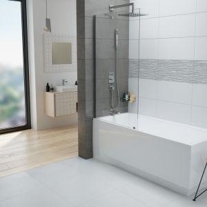 Sposób na strefę kąpieli w małej łazience : wanna z parawanem PW1/Free marki Sanplast. Fot. Sanplast