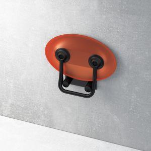 Siedzisko prysznicowe OVO P Black Orange. Fot. Ravak
