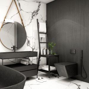 Czerń w łazience: przykładowa aranżacja. Fot. Materiały prasowe Liberon