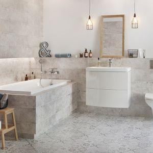 Płytki ceramiczne do łazienki w stylu loft: kolekcja Concrete Style marki Cersanit. Fot. Cersanit