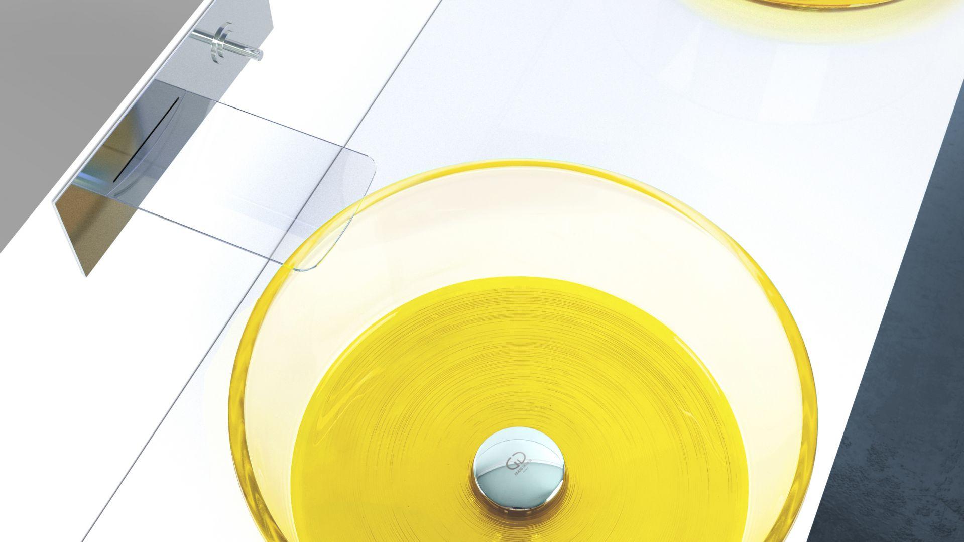 Kolorowe umywalki Drop Katino marki Glass Design. Fot. Glass Design