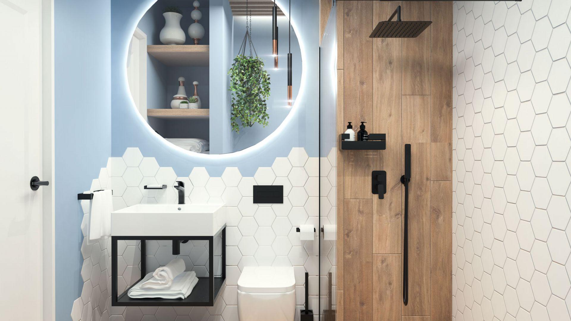 Aranżacja łazienki z BOX-em podtynkowym Deante. Fot. Deante