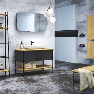 Ciemne meble łazienkowe z kolekcji Oval marki Devo. Fot. Devo