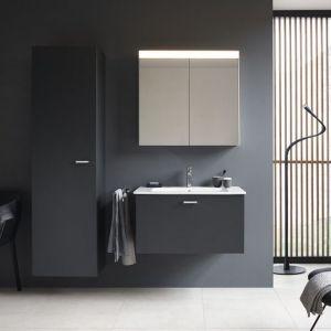 Ciemne meble łazienkowe XBase marki Duravit. Fot. Duravit