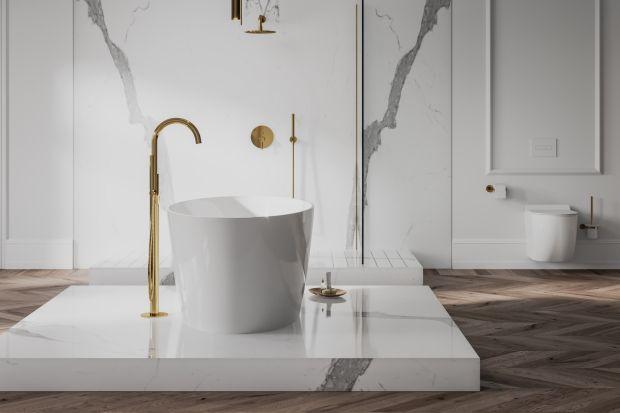 """Łazienki urządzone w konwencji salonu kąpielowego stają się coraz modniejsze. W takim wnętrzu dobrze zaplanować baterię wannową, która stworzy efekt """"wow""""."""