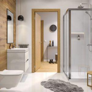 Aranżacja łazienki z kolekcją łazienkową Modo. Fot. Koło