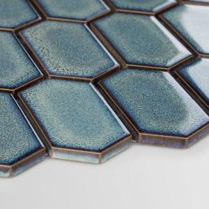 Mozaika ceramiczna Heksalong Adriatyk, Szkliwiony. Fot. Raw Decor