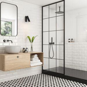 Aranżacja łazienki z płytkami jak kafle z kolekcji Moonlight marki Paradyż Classica. Fot. Ceramika Paradyż