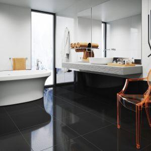 Płytki ceramiczne do czarno-białej łazienki: kolekcja Cambia white&black marki Cerrad. Fot. Cerrad