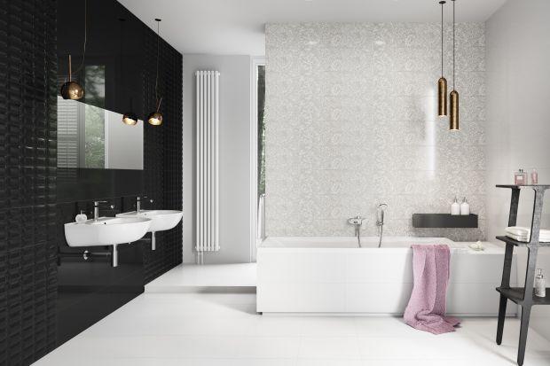 Czerń i biel to ponadczasowe i uniwersalne kolory. Zobacz kolekcje płytek, z którymi urządzisz czarno-białą łazienkę.
