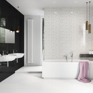 Płytki ceramiczne do czarno-białej łazienki: kolekcja Pret a Porter marki Cersanit. Fot. Cersanit