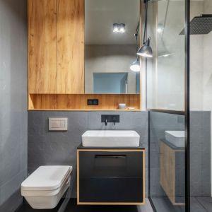 Aranżacja łazienki w stylu industrialnym. Proj. Deer Design. Fot. Materiały prasowe Deer Design