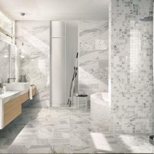 Płytki jak biały marmur z kolekcji Imperial Calacatta marki NovaBell. Fot. NovaBell