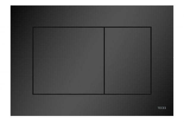 Czarny detal w łazience: nowy matowy przycisk spłukujący