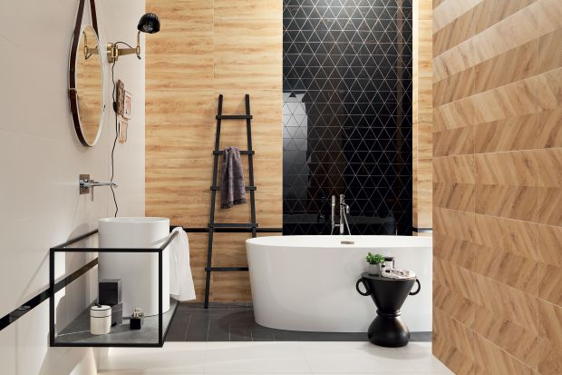 Czarny kolor to absolutny hit w aranżacjach łazienkowych tego sezonu. Obecny jest zarówno na ścianach i podłogach, jak również w formie mebli i detali.