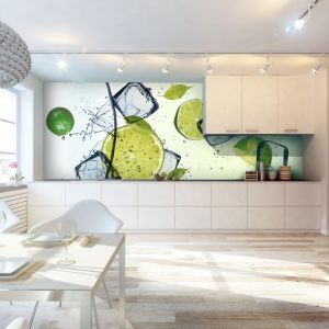 Soczyste limonki orzeźwią każdą przestrzeń. Na ścianie nad blatem ożywią przestrzeń kuchni. Fot. Livingstyle.